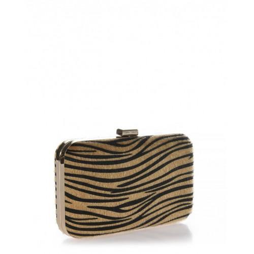 Clutch bag animal print Veta 4003-104 Βραδινά 4003-104
