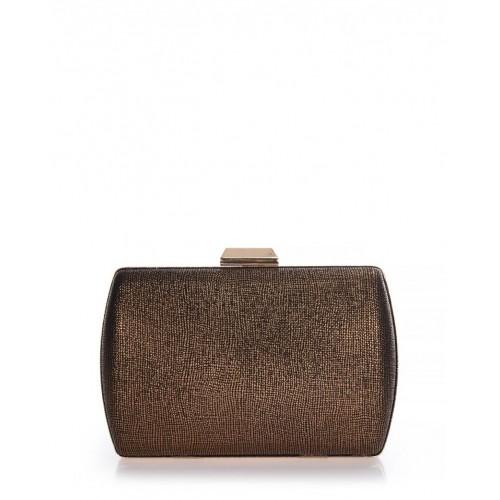 Clutch bag μπρονζέ γυαλιστερό Veta 4012-58 Βραδινά 4012-58